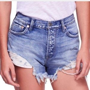 Free People Loving Good Vibrations Cut Offs